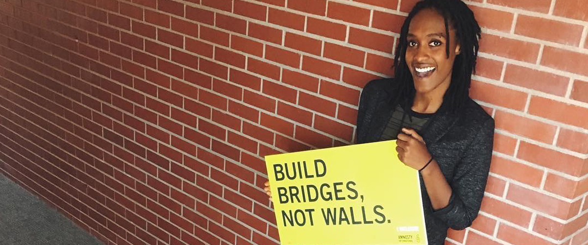 Alumnus Kayla Parker has spent the past year working for Amnesty International and the Elizabeth Warren presidential campaign.