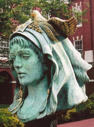 Audrey Flack's sculpture, The Beloved Woman of Justice